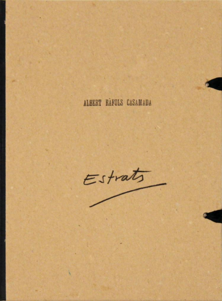 Albert Rafols-Casamada Estrats: Poems Visuals - 1985 - SIGNED