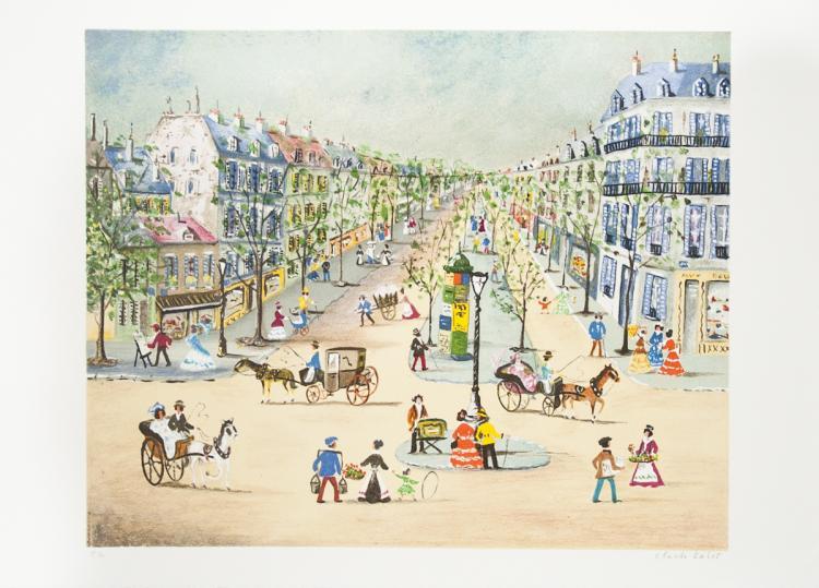 Claude Tabet - Rue de Castiglione - SIGNED