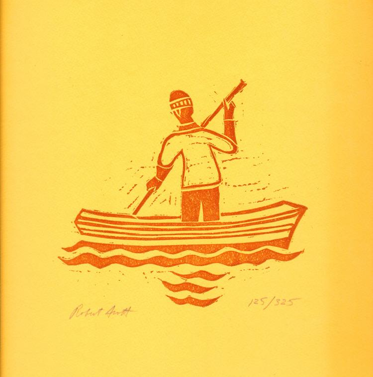 Robert Scott - Untitled (Sailor paddling) - 1980 - SIGNED
