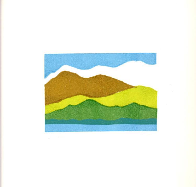 Linda Ann Fischer - Untitled (Mountain Landscape) - 1980 - SIGNED