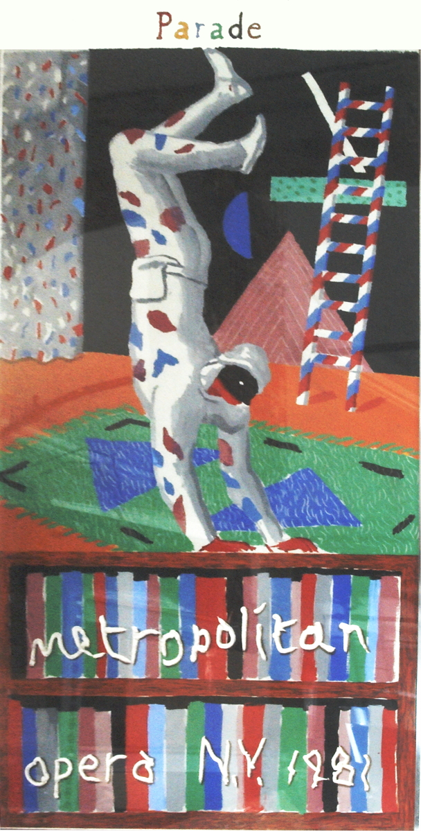 David Hockney - Harlequin from Parade - 1981