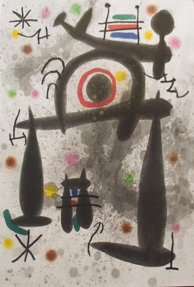 Joan Miro - Le Miroir de l'Homme par les Betes - 1972