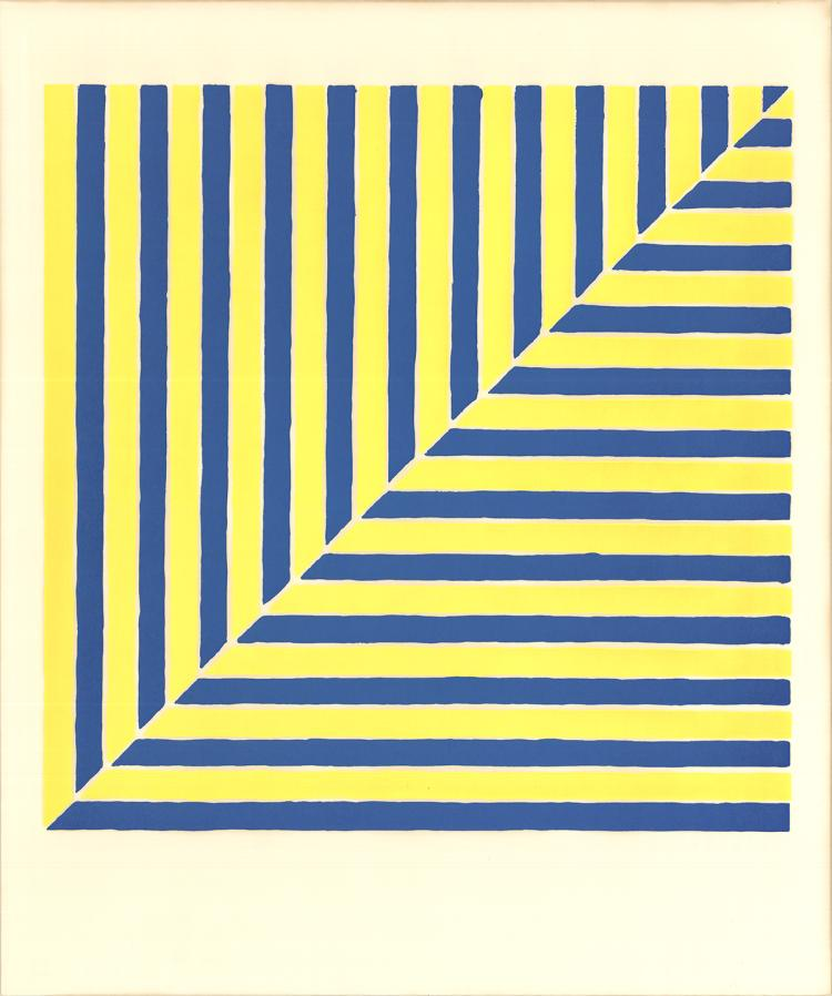 Frank Stella - Untitled (Rabat) (From Ten Works by Ten Painters) - 1964