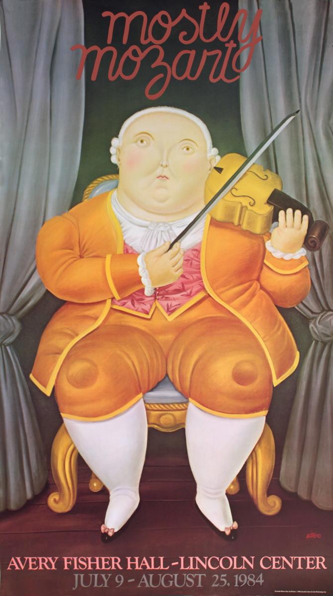 Fernando Botero - Mostly Mozart - 1984