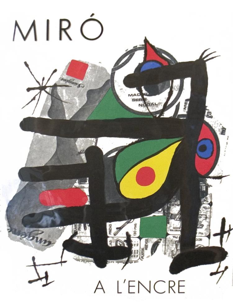 Joan Miro A L'encre - 1972