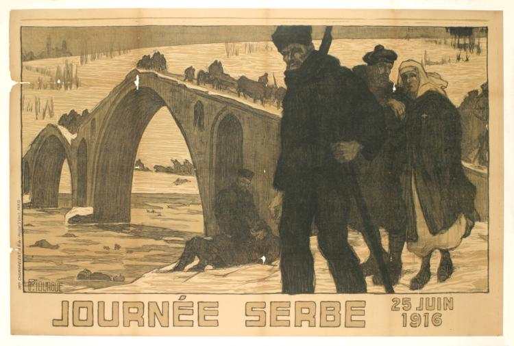 P Morgue - Journee Serbe - 1916