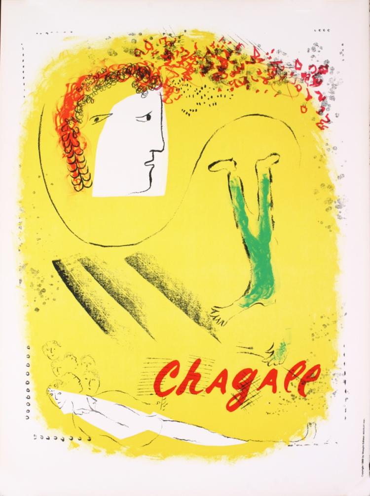 Marc Chagall - The Yellow Background - 1969