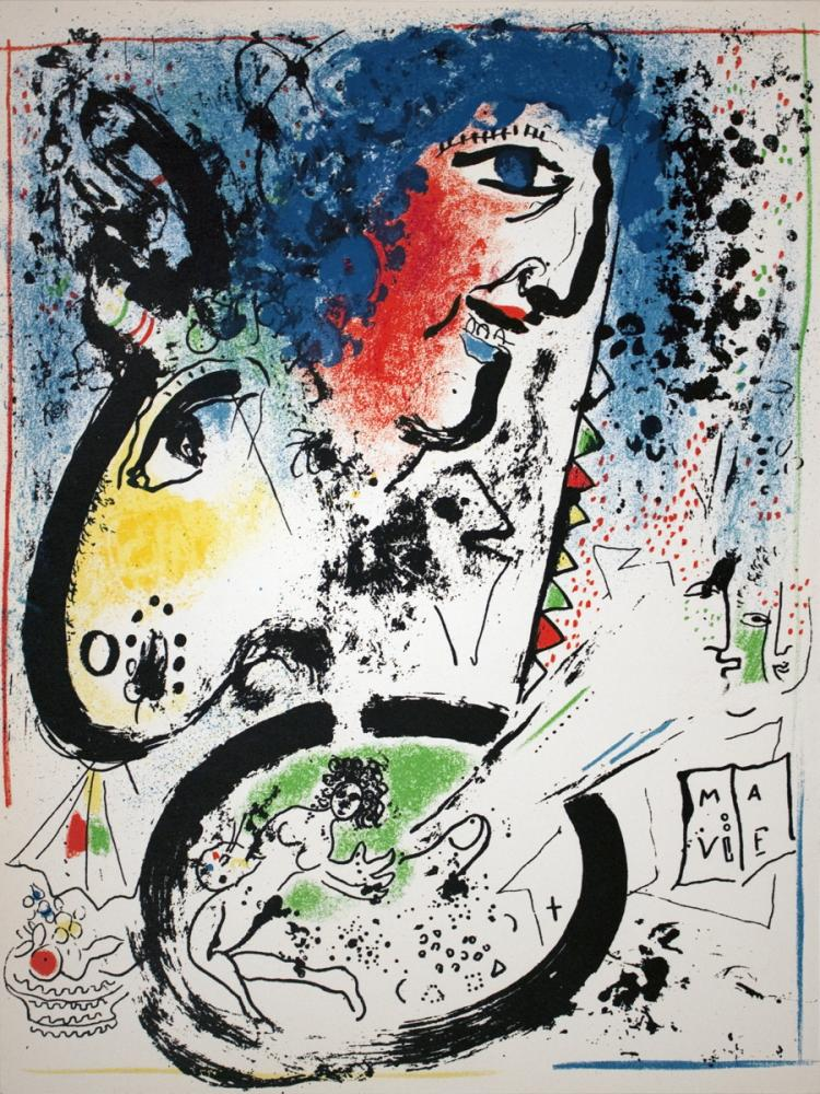 Marc Chagall - Self Portrait-Frontespiece - 1960