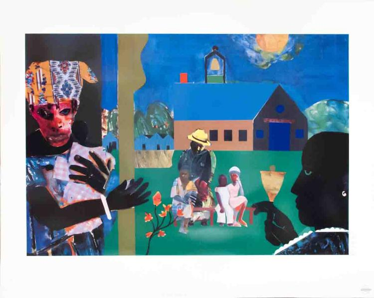 Romare Bearden - School Bell Time - 1994