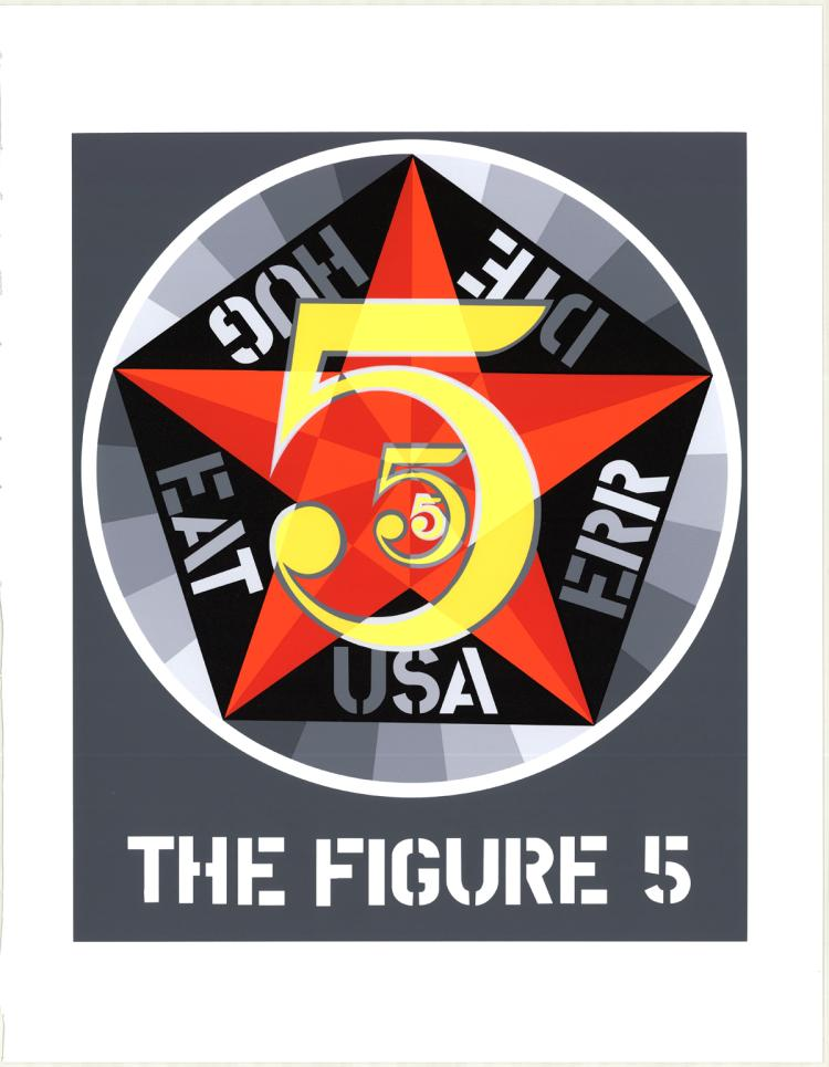 Robert Indiana - The Figure Five - 1997