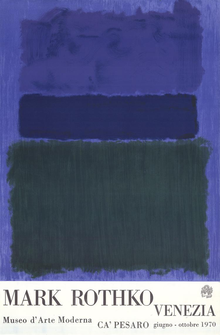 Mark Rothko - Museum of Modern Art in Venice - 1970