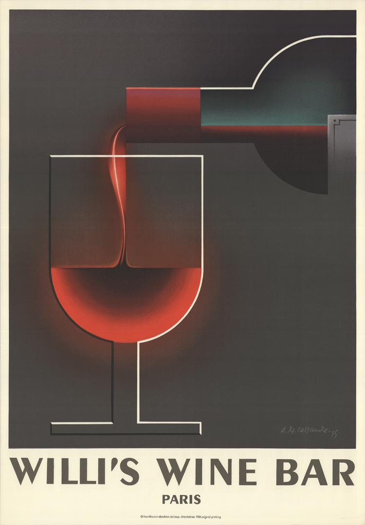 A.M. Cassandre - Willi's Wine Bar - 1984