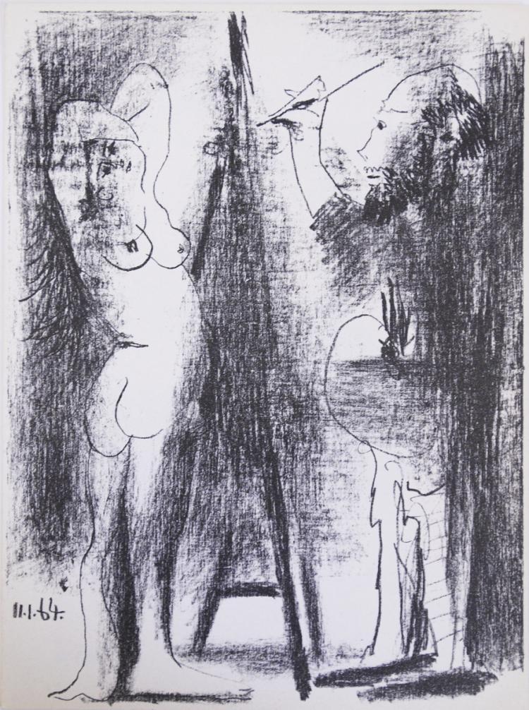 Pablo Picasso - Le Peintre et son modele - 1964