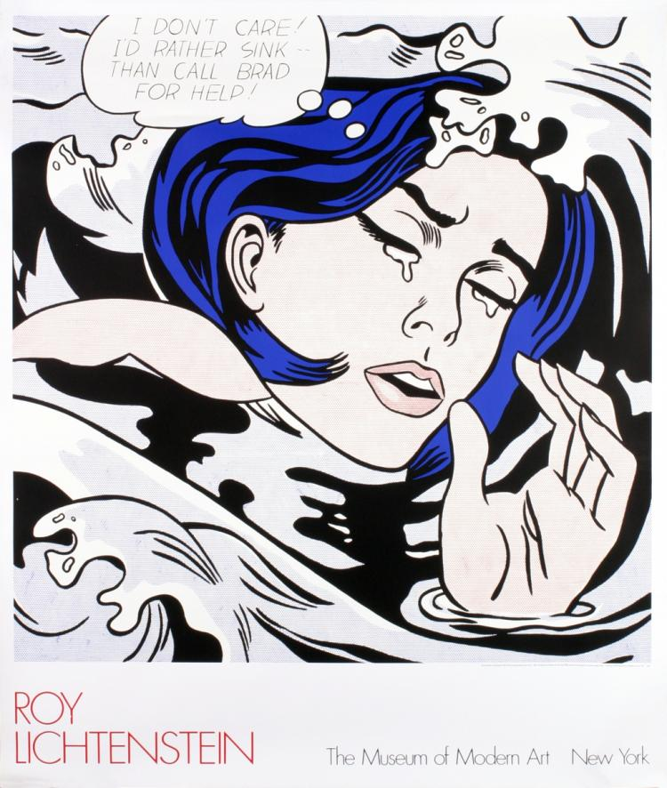 Roy Lichtenstein - Drowning Girl - 1989