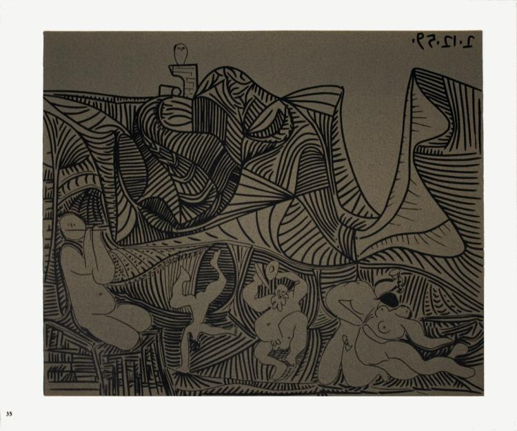 Pablo Picasso - Bacchanale au Hibou - 1962
