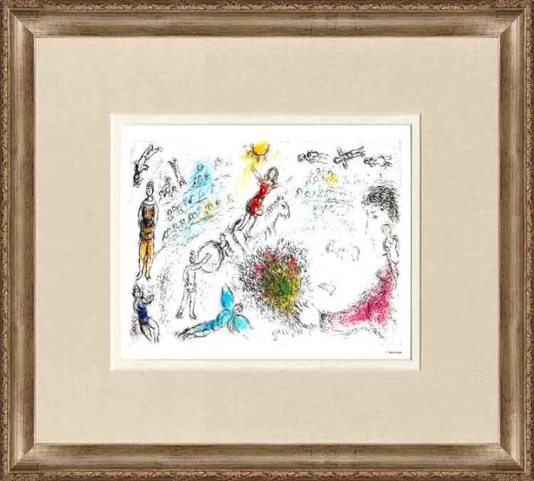 Marc Chagall - L'ame du Cirque - 1981