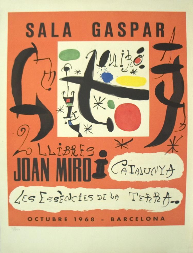Joan Miro - 2 Llibres: Joan Miro i Catalunya-Les Essencies De La Terra - 1968