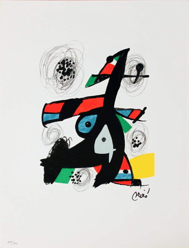 Joan Miro - Untitled from La Melodie Acide VI - 1980