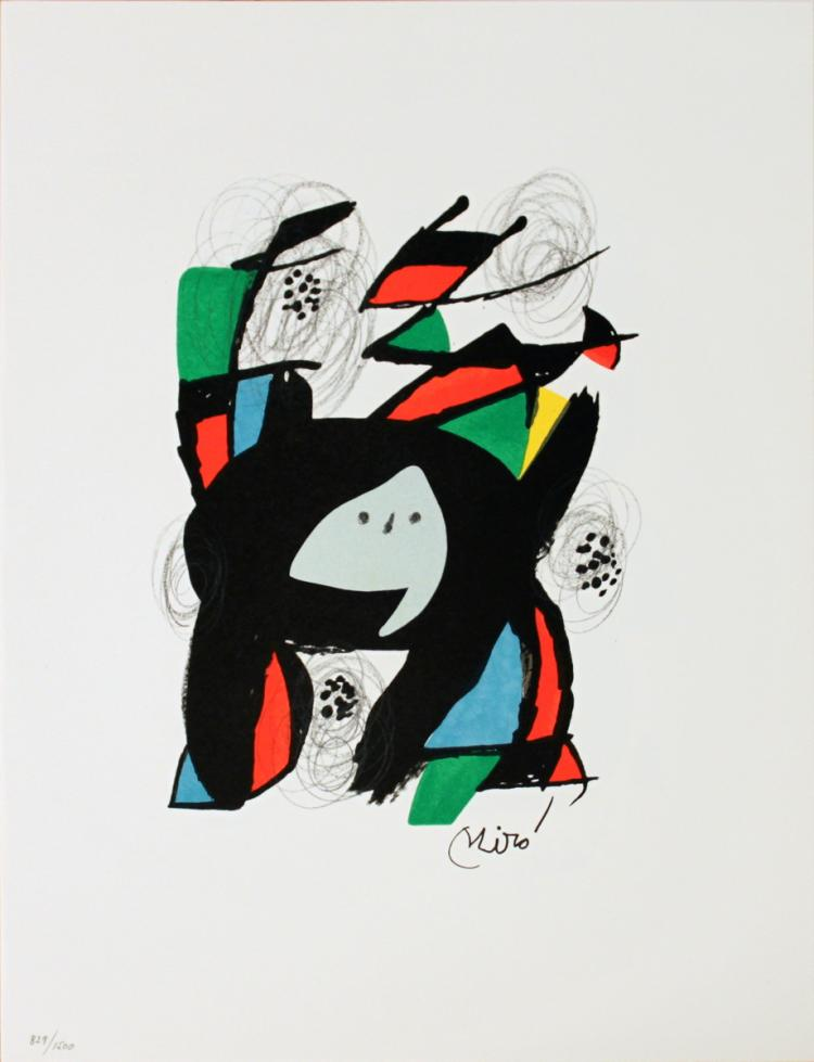 Joan Miro - Untitled from La Melodie Acide XII - 1980