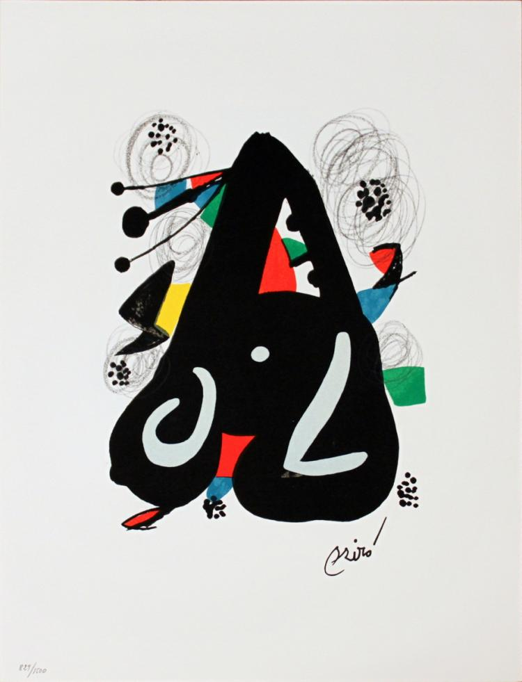 Joan Miro - Untitled from La Melodie Acide XIII - 1980