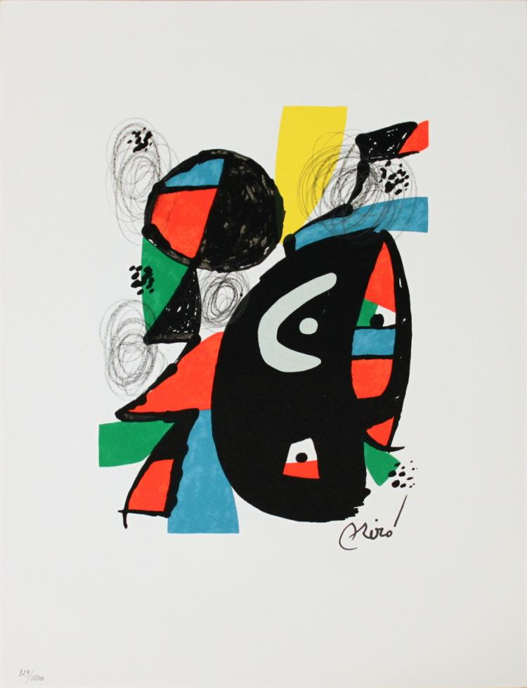 Joan Miro - Untitled from La Melodie Acide XVI - 1980