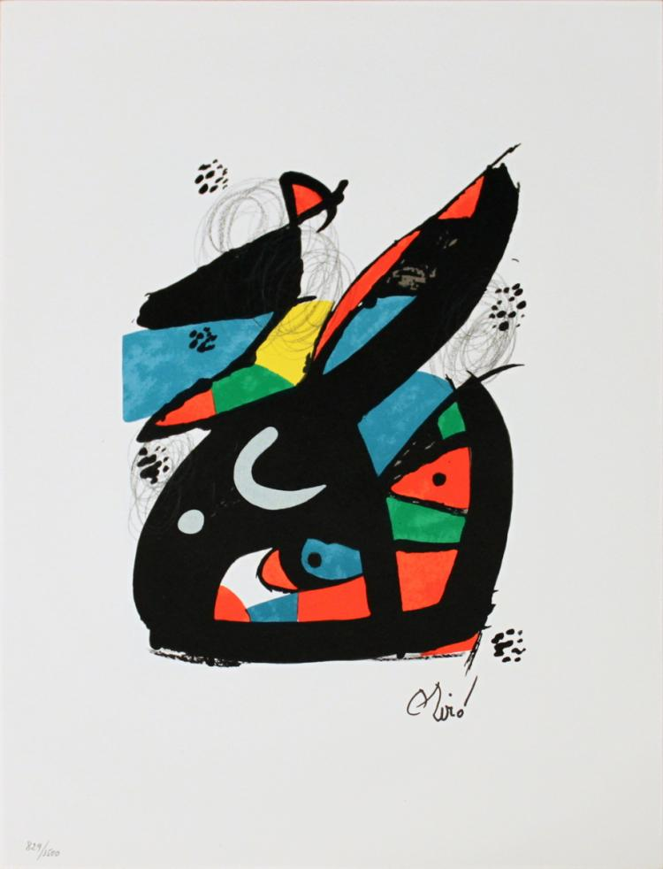 Joan Miro - Untitled from La Melodie Acide XVII - 1980
