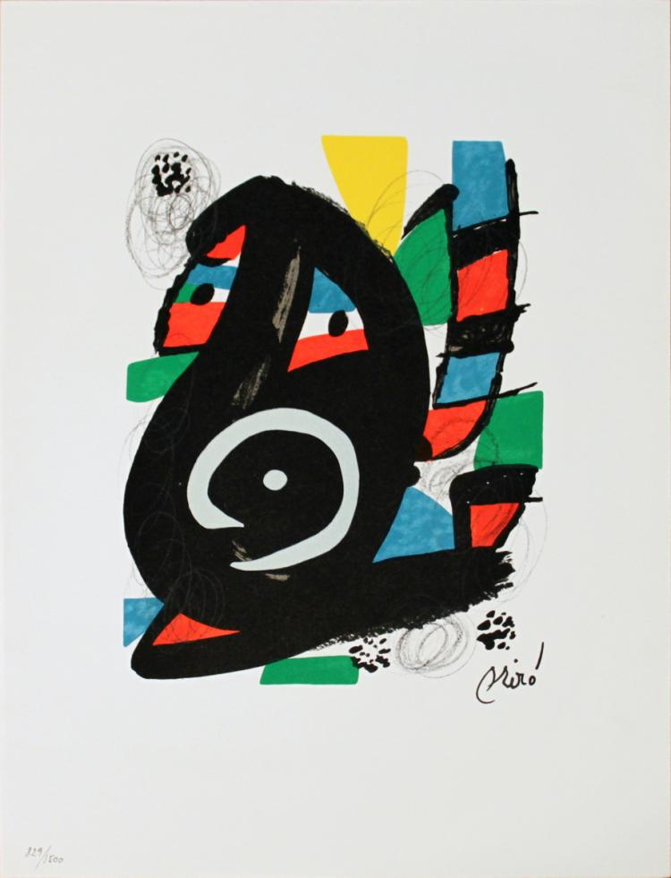 Joan Miro - Untitled from La Melodie Acide XVIII - 1980