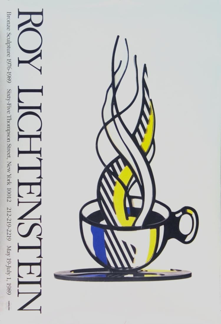Roy Lichtenstein - Cup and Saucer - 1989