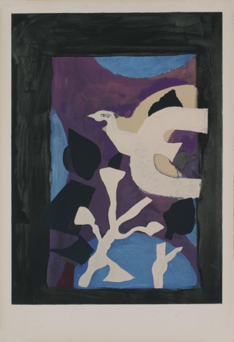 Georges Braque - Oiseau et Lotus - 1963