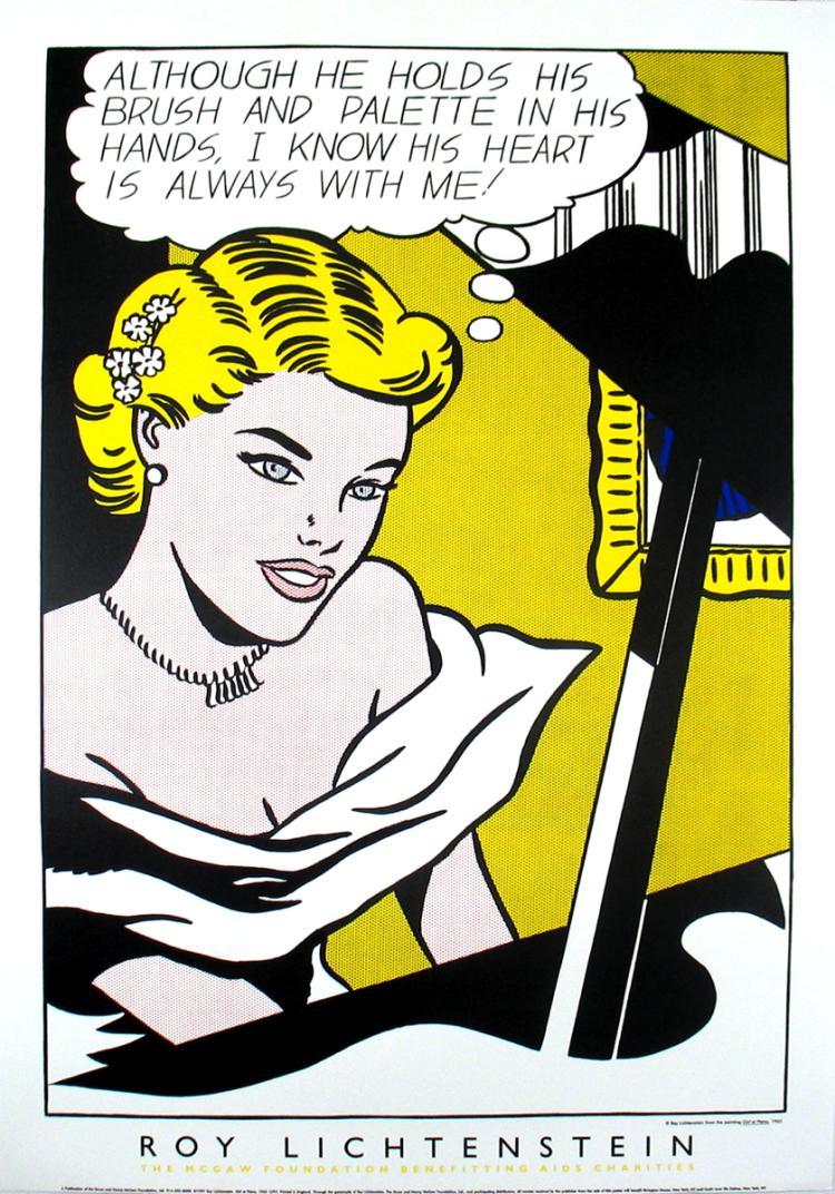 Roy Lichtenstein - Girl at the Piano - 1994