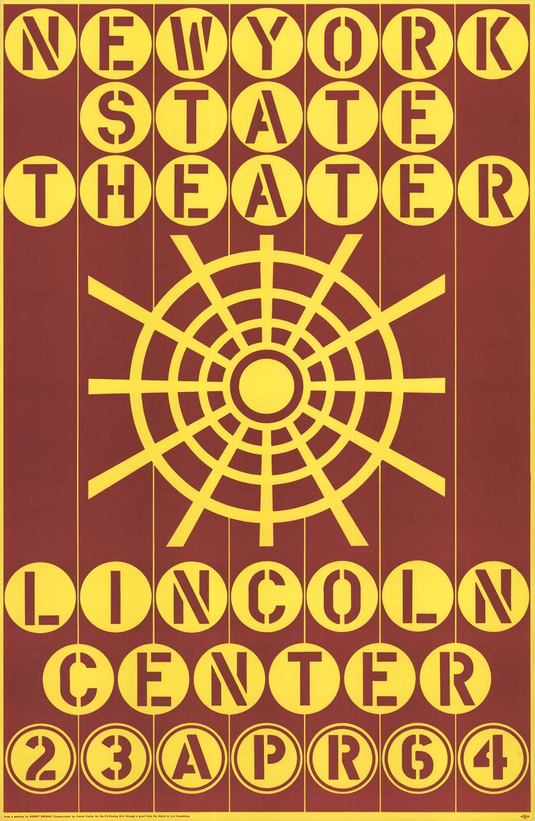 Robert Indiana - New York State Theater, Lincoln Center - 1964