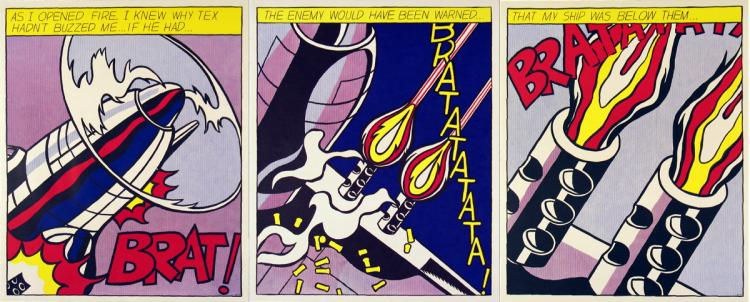 Roy Lichtenstein - As I Opened Fire (Triptych) - 1997