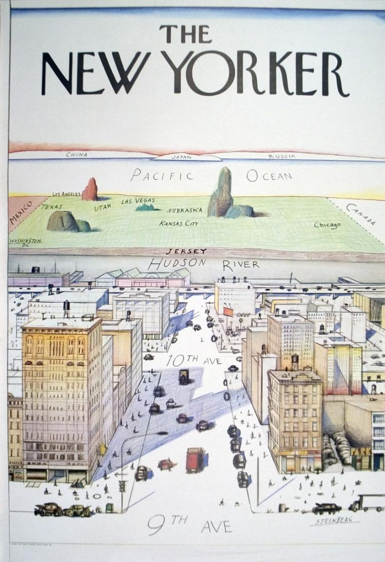 Saul Steinberg - The New Yorker - 1976
