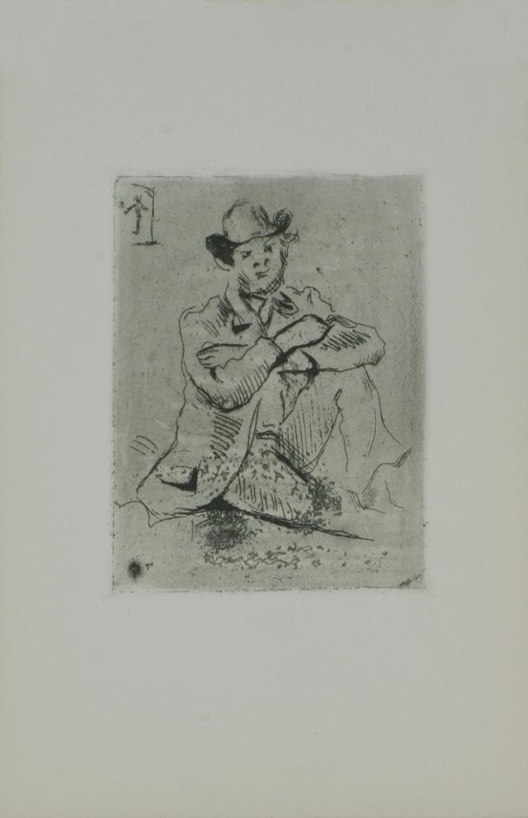 Paul Cezanne - Guillaumin au Pendu - 1906