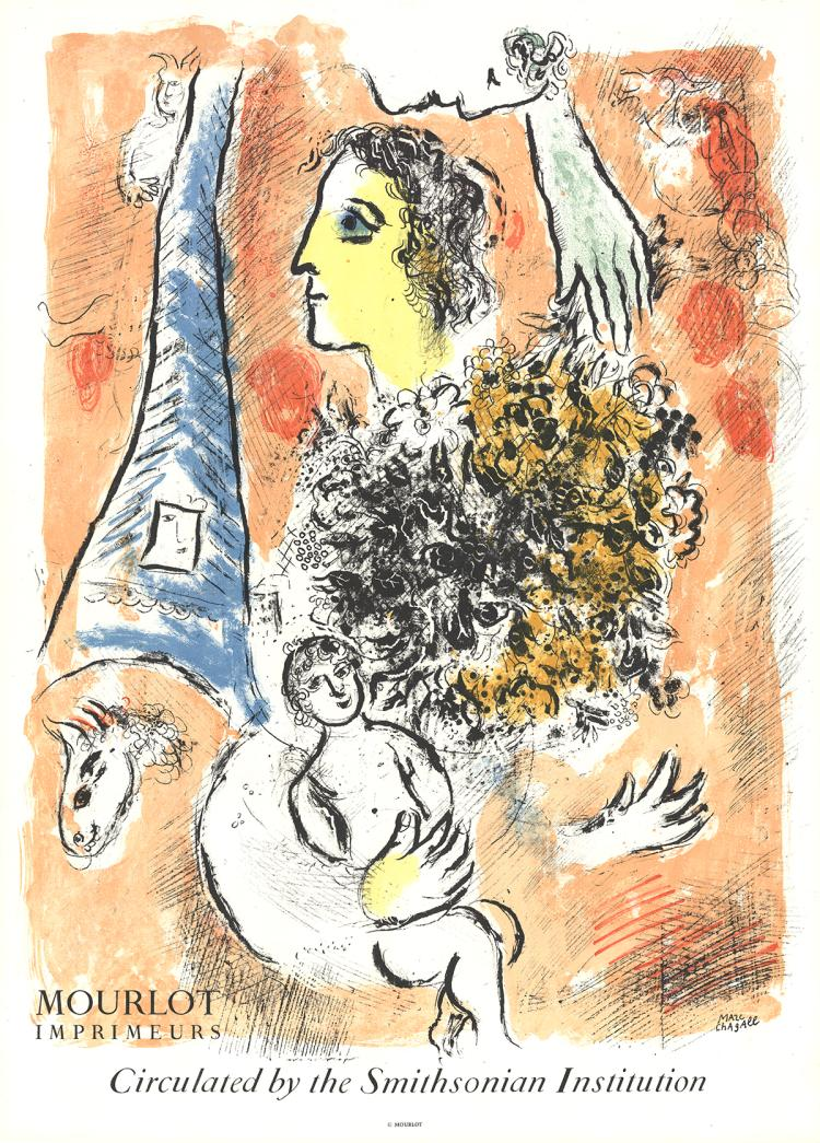 Marc Chagall - Offering to the Eiffel Tower - 1964