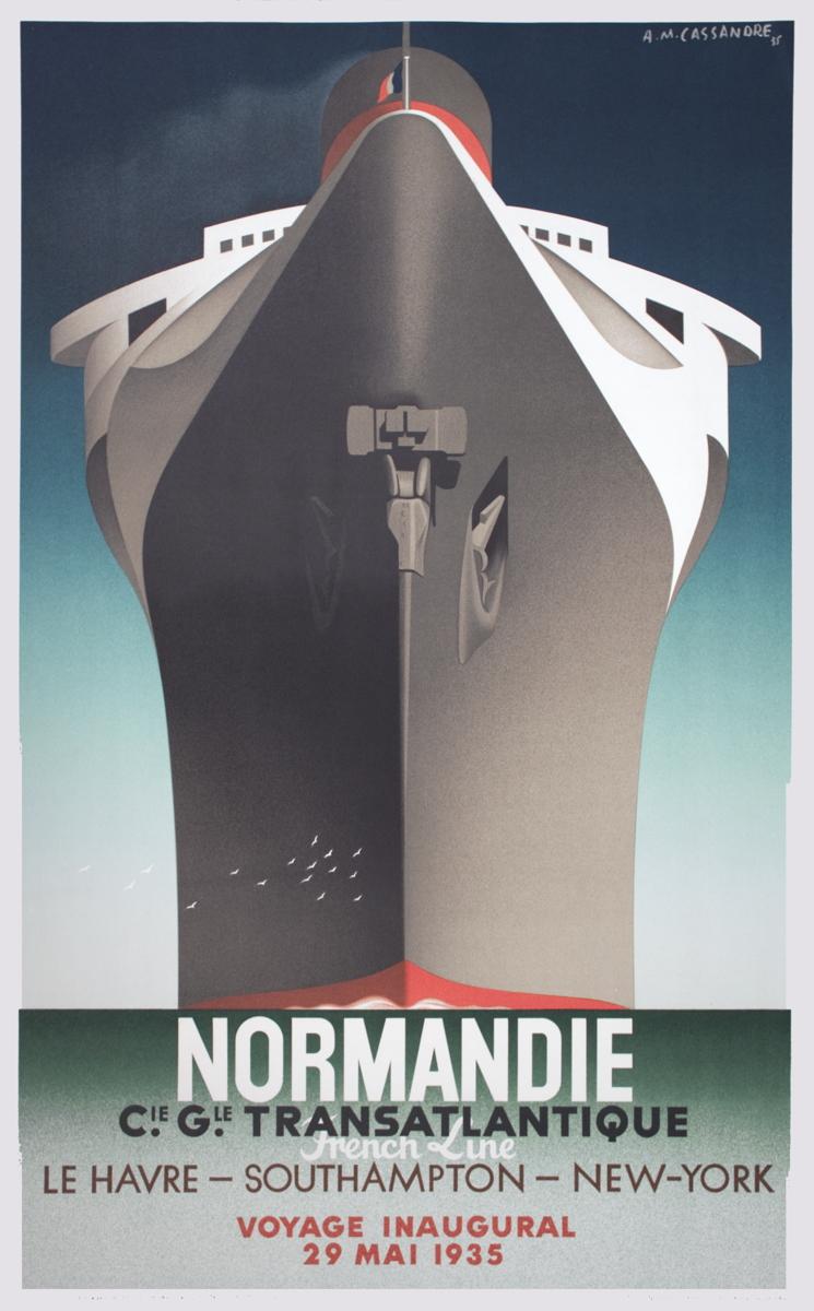 A.M. Cassandre - Normandie - 1979