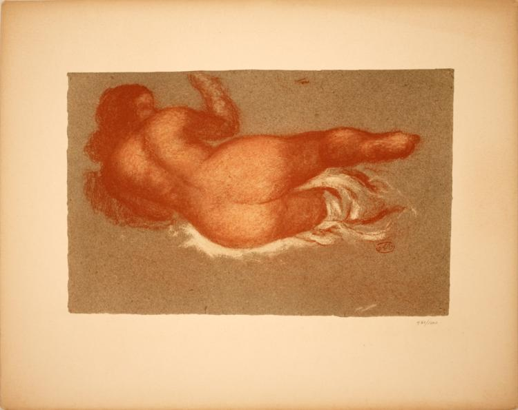 Aristide Maillol - Jeune Femme Couchee sur le dos, une Jambe Levee - 1949