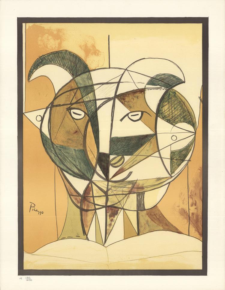 Pablo Picasso - Tete de Faune Gris (After)