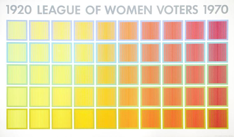 Richard Anuszkiewicz - League of Women Voters - 1969