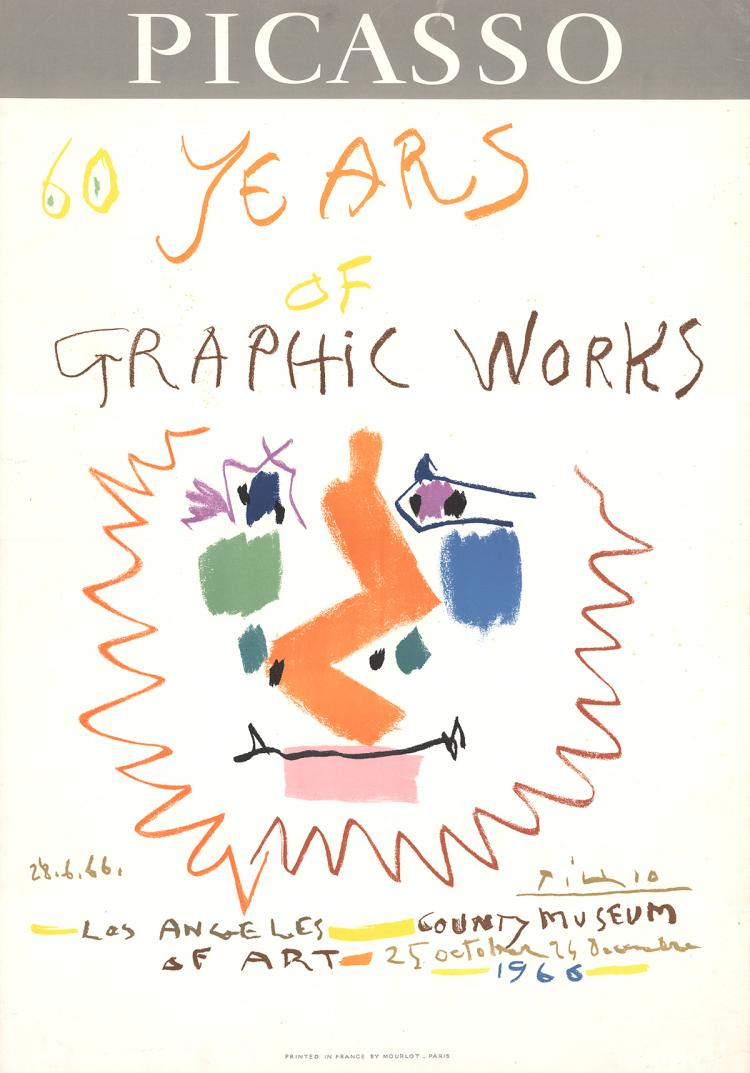 Pablo Picasso - 60 Years of Graphic Works - 1966