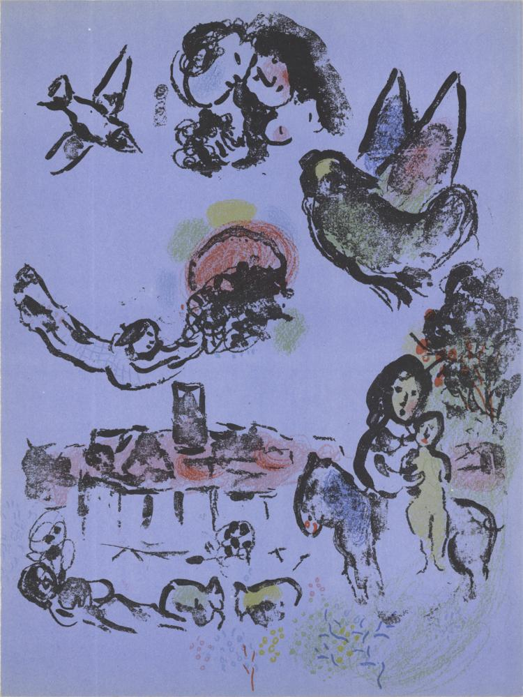 Marc Chagall - Nocturne in Vence - 1963