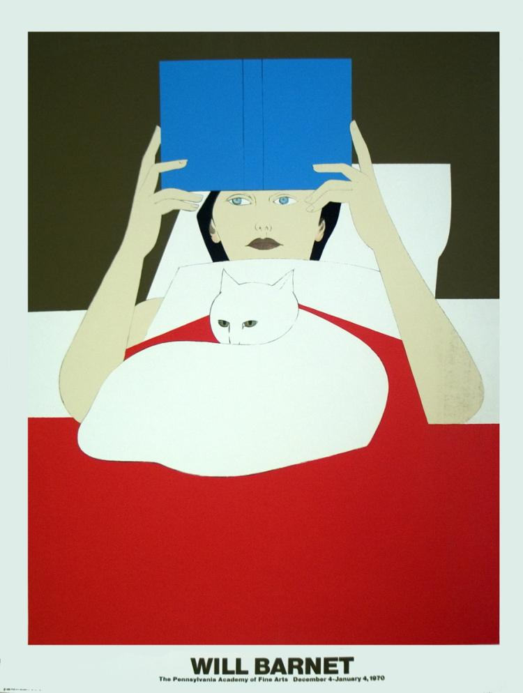 Will Barnet - Woman Reading - 1970