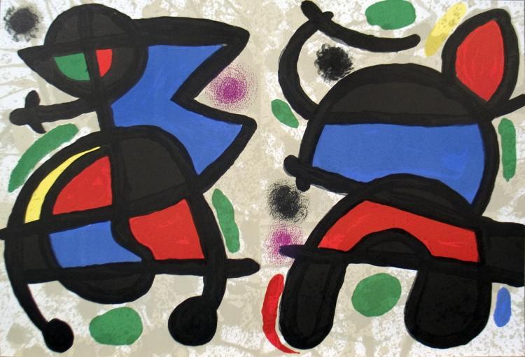 Joan Miro - Derriere le Miroir, no. 186, pg 14,19 - 1970