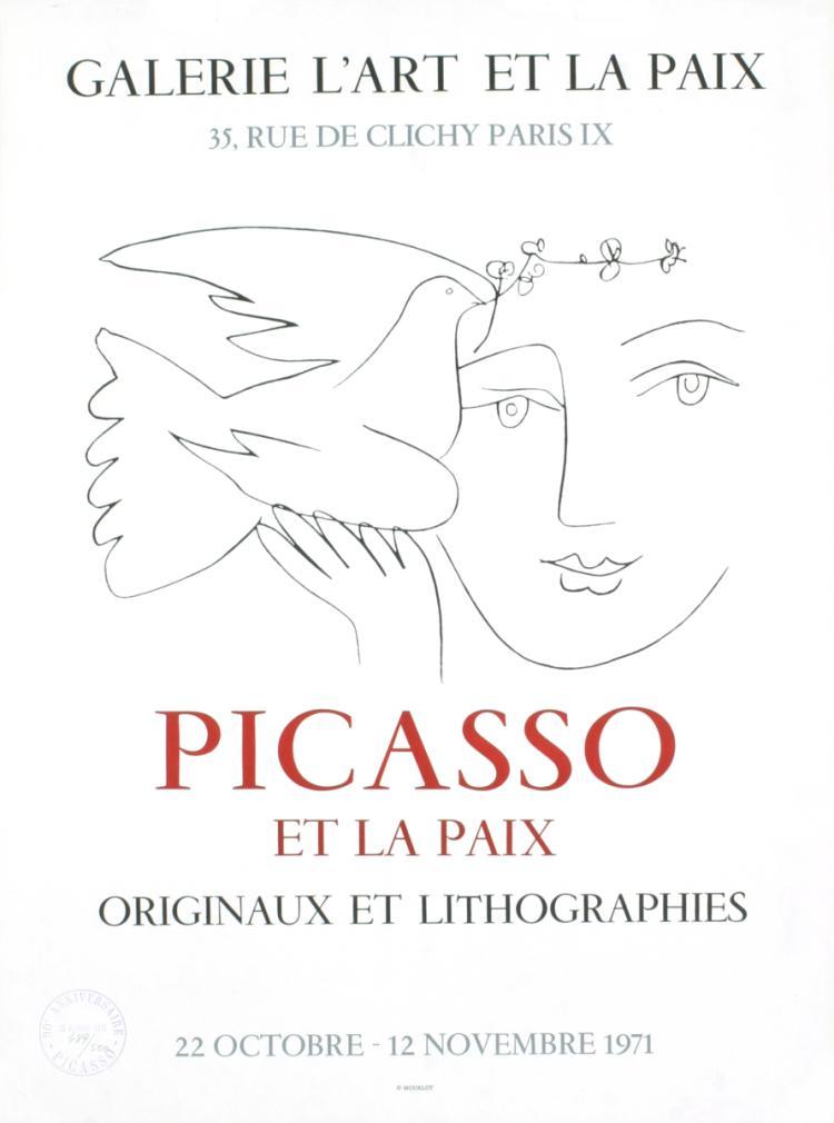 Pablo Picasso - Galerie L'Art Et la Paix, Paris - 1971
