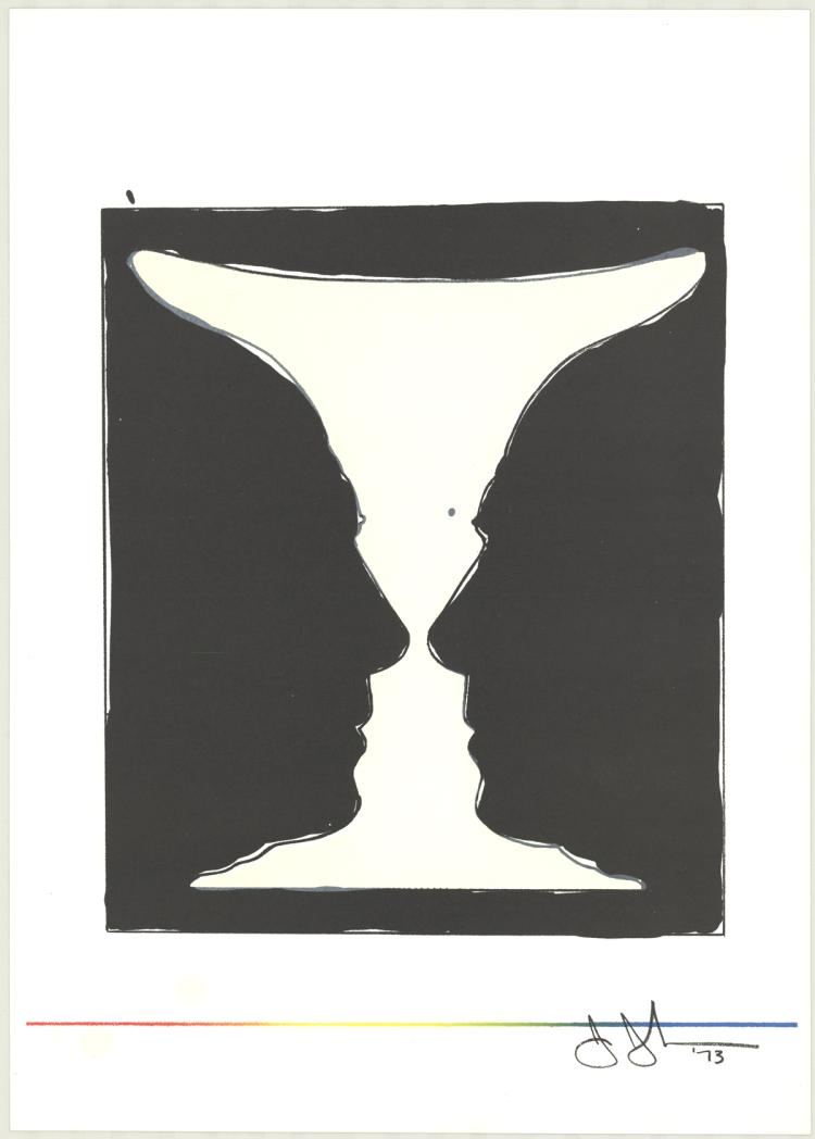 Jasper Johns - Cup, Two Picasso Profiles - 1973