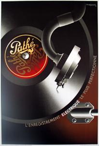 A.M. Cassandre - Pathe, L'enregistrement electrique - 1980