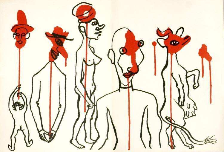 Alexander Calder - Double page from Derriere le Miroir No. 156 - 1966