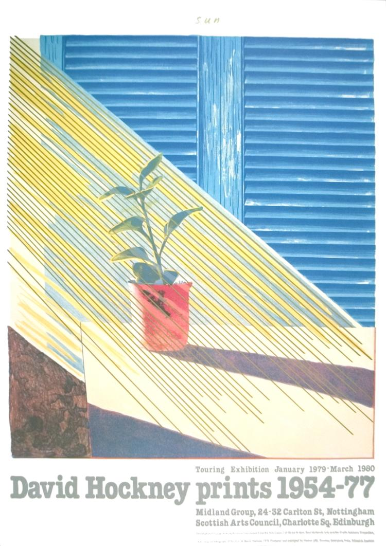 David Hockney - Sun from the Weather Series - 1981