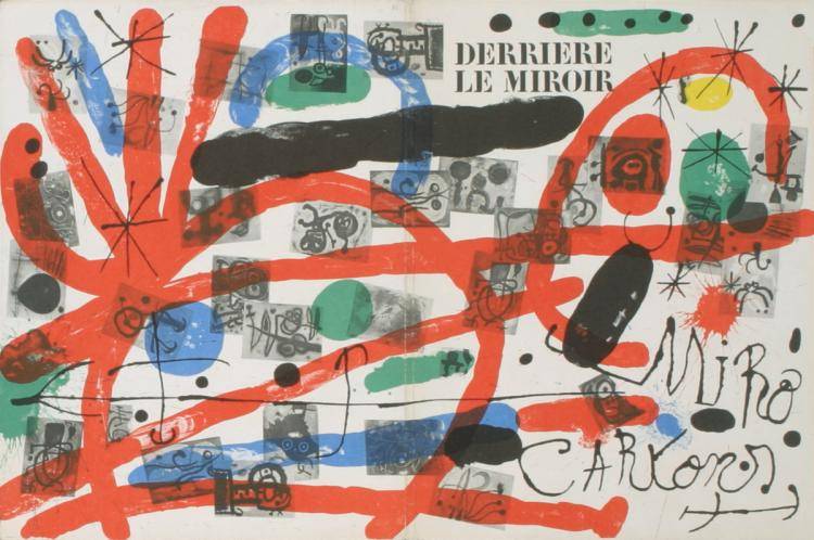 Joan Miro - Derriere Le Miroir, no. 151-152 Cover - 1965