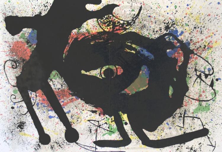 Joan Miro - Derriere le Miroir, no. 203 pg 10,11 - 1973